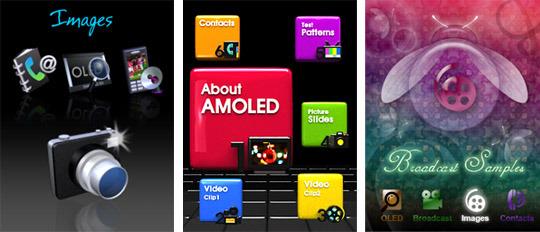 AMOLED Promotion용 Concept 제품과 다양한 GUI